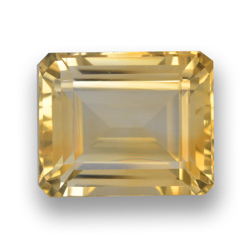 thumb image of 5.1ct Octagon Step Cut Yellow Golden Citrine (ID: 461288)
