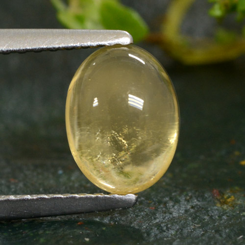 1.4ct Oval Cabochon Yellow Golden Citrine Gem (ID: 477002)