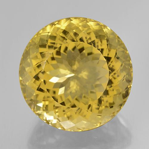 29.03 ct Sfaccettatura rotonda Light Golden-Yellow Citrino Pietra preziosa 19.85 mm  (Product ID: 477267)