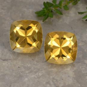 Yellow Golden Citrine Gem - 3.8ct Cushion-Cut (ID: 477305)
