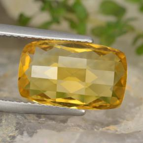 thumb image of 3.9ct Cushion Checkerboard (double sided) Yellow Golden Citrine (ID: 477467)