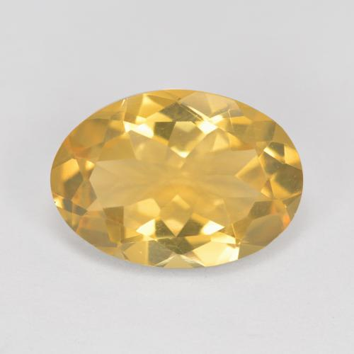 4.8ct Oval Facet Deep Yellow Citrine Gem (ID: 492486)