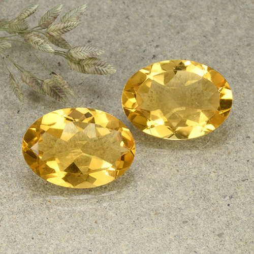 thumb image of 9.1ct Oval Facet Yellow Citrine (ID: 492540)