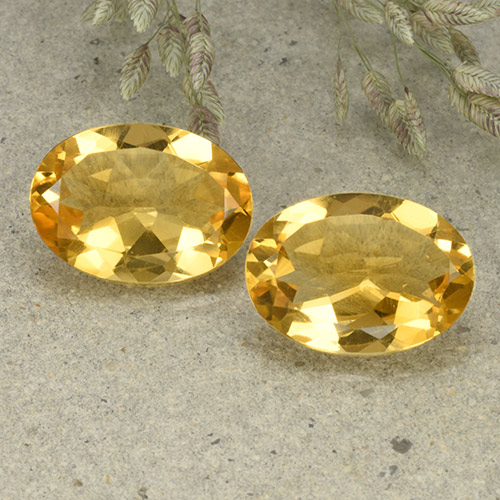 Yellow Citrine Gem - 4.8ct Oval Facet (ID: 492545)