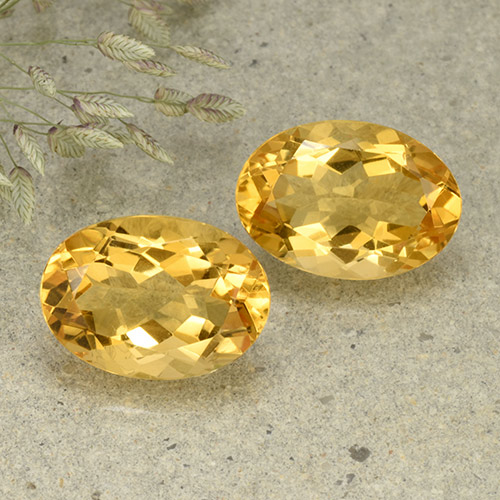 Yellow Citrine Gem - 5.4ct Oval Facet (ID: 492546)