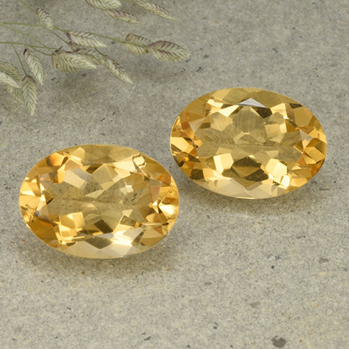 Yellow Citrine Gem - 4.9ct Oval Facet (ID: 492549)