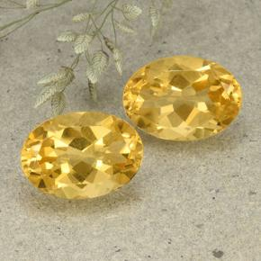 Golden Orange Citrine Gem - 5.8ct Oval Facet (ID: 492550)
