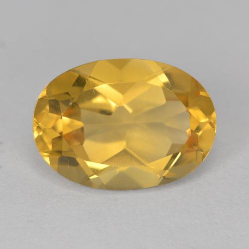 Yellow Citrine Gem - 5.5ct Oval Facet (ID: 492600)