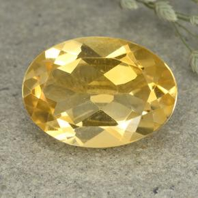 Medium Golden Citrino Gem - 4.8ct Ovale sfaccettato (ID: 492613)
