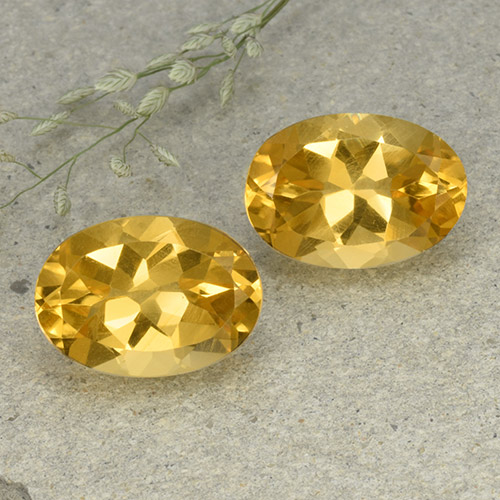 Yellow Citrine Gem - 5.8ct Oval Facet (ID: 492624)