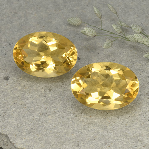 Medium Golden Citrine Gem - 5.3ct Oval Facet (ID: 492625)