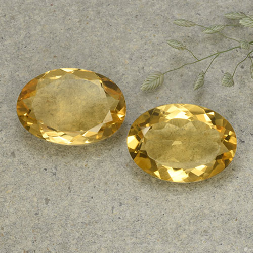 Yellow Citrine Gem - 4.4ct Oval Facet (ID: 492629)