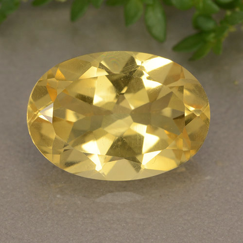 Yellow Citrine Gem - 5.2ct Oval Facet (ID: 492744)