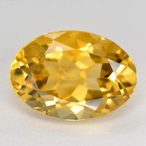 Medium Golden Citrino Gem - 6ct Ovale sfaccettato (ID: 492763)