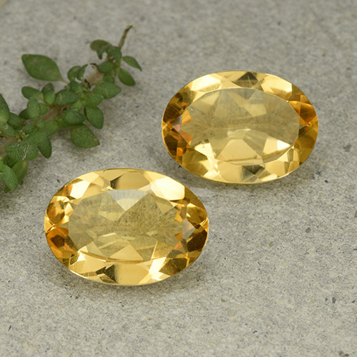 Orange Doré Citrine gemme - 4.3ct Ovale facette (ID: 492831)