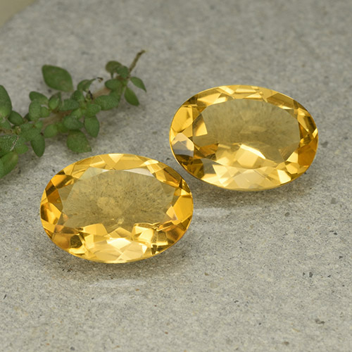Yellow Citrine Gem - 4.7ct Oval Facet (ID: 492833)