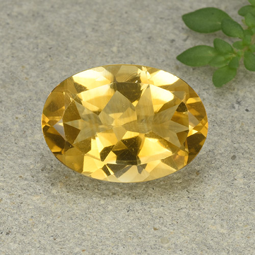 thumb image of 5ct Oval Facet Yellow Citrine (ID: 492866)