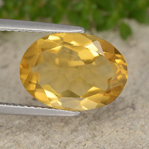 Dark Golden Citrina Gema - 3.9ct Forma ovalada (ID: 492900)
