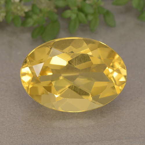 5.6ct Oval Facet Honey Yellow Citrine Gem (ID: 492917)