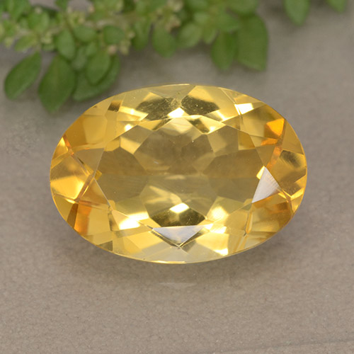 thumb image of 4.4ct Oval Facet Yellow Citrine (ID: 492926)