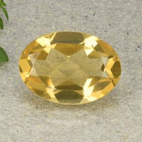 4.4ct Oval Facet Deep Yellow Citrine Gem (ID: 492971)
