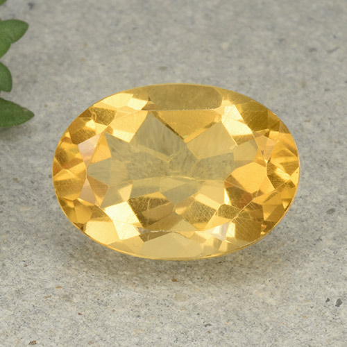 Yellow Citrine Gem - 5.2ct Oval Facet (ID: 493012)