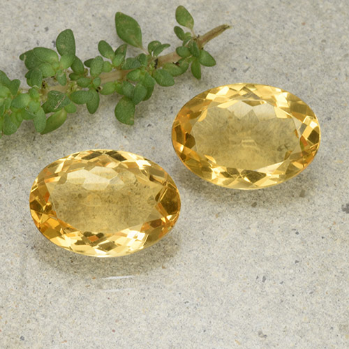 Yellow Citrine Gem - 4.9ct Oval Facet (ID: 493025)