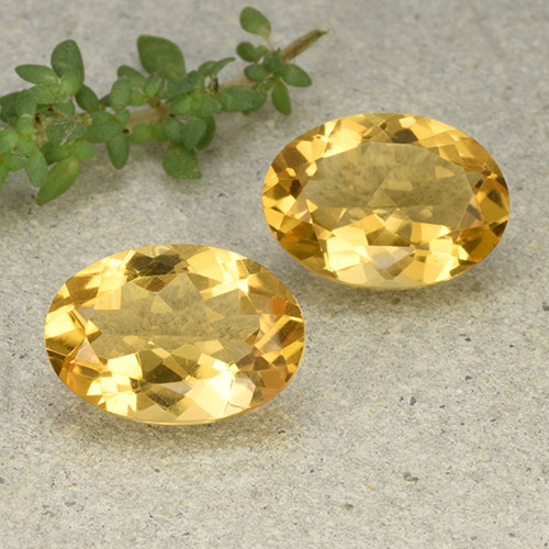 Yellow Citrine Gem - 4.8ct Oval Facet (ID: 493027)