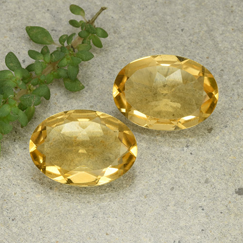 Yellow Citrine Gem - 4.4ct Oval Facet (ID: 493029)
