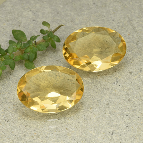 Yellow Citrine Gem - 4ct Oval Facet (ID: 493033)