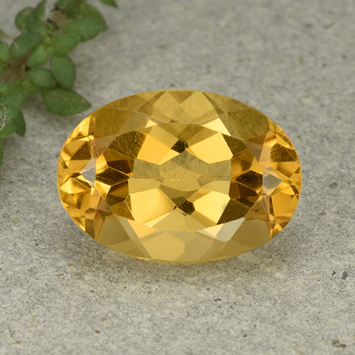 Medium Golden Citrina Gema - 5.3ct Forma ovalada (ID: 493098)