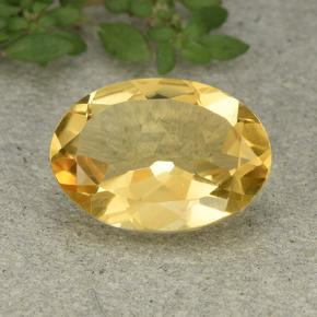 Medium Golden Citrina Gema - 4.5ct Forma ovalada (ID: 493112)
