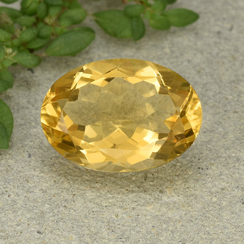 Medium Golden Citrina Gema - 5.2ct Forma ovalada (ID: 493123)