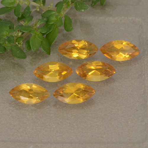Yellow Citrine Gem - 0.2ct Marquise Facet (ID: 493188)