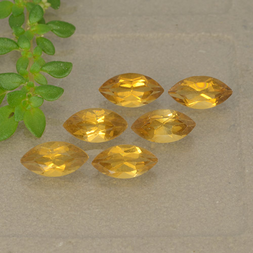 Yellow Citrine Gem - 0.3ct Marquise Facet (ID: 493194)