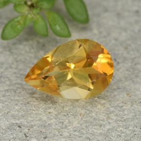 thumb image of 1ct Pear Facet Yellow Citrine (ID: 493215)