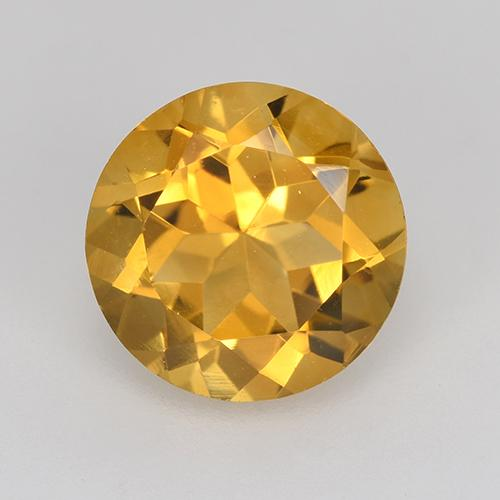 1.79 ct Round Facet Yellow Golden Citrine Gemstone 8.13 mm  (Product ID: 496819)
