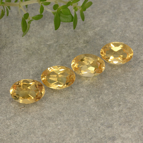 Yellow Golden Citrine Gem - 0.5ct Oval Facet (ID: 496952)