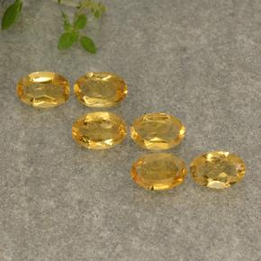 Yellow Golden Citrine Gem - 0.4ct Oval Facet (ID: 496961)