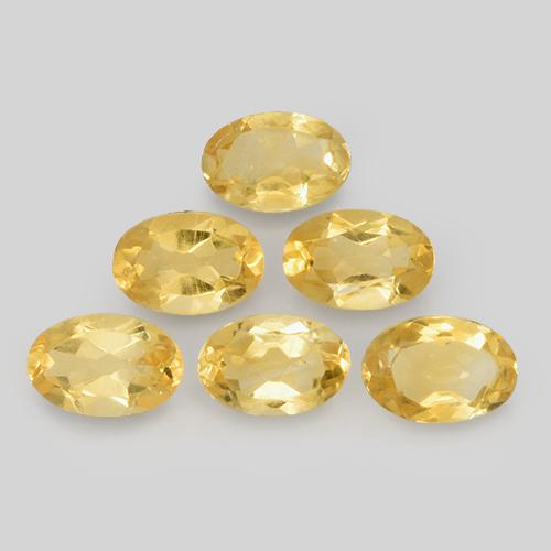 Yellow Golden Citrine Gem - 0.4ct Oval Facet (ID: 496962)