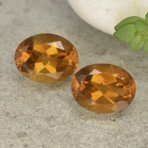 Yellow Orange Citrine Gem - 1.8ct Oval Facet (ID: 497518)