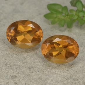 Medium Orange Citrine Gem - 1.8ct Oval Facet (ID: 497519)