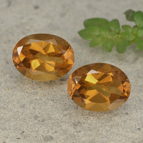 Yellow Orange Citrine Gem - 1.8ct Oval Facet (ID: 497524)