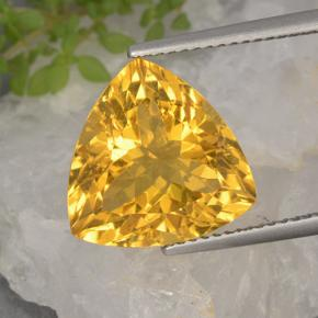 Bright Gold Citrina Gema - 6.8ct Forma trillón (ID: 498471)