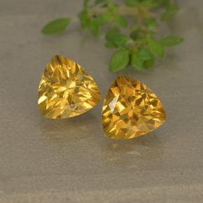 0.8ct مثلثى الوجه Dark Golden سيترين حجر كريم (ID: 499308)