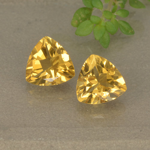 Golden Citrine Gem - 0.7ct Trillion Facet (ID: 499321)