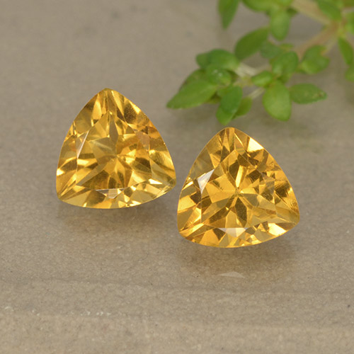 0.7ct مثلثى الوجه Dark Golden سيترين حجر كريم (ID: 499327)