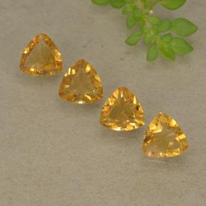 0.6ct مثلثى الوجه Dark Golden سيترين حجر كريم (ID: 499335)