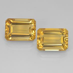 Deep Gold Citrine Gem - 8.2ct Octagon Step Cut (ID: 499906)