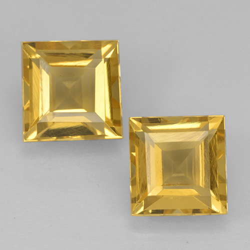 Gold Citrine Gem - 1.1ct Square Step-Cut (ID: 500436)